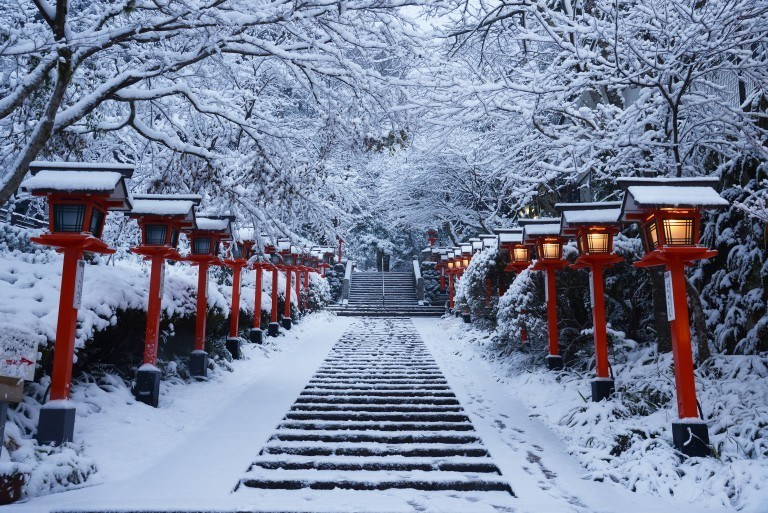Winter at Kifune Shrine