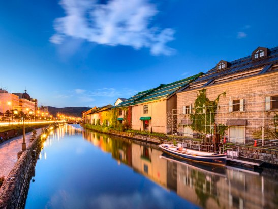 34578449 - otaru, japan historic canal and warehousedistrict.