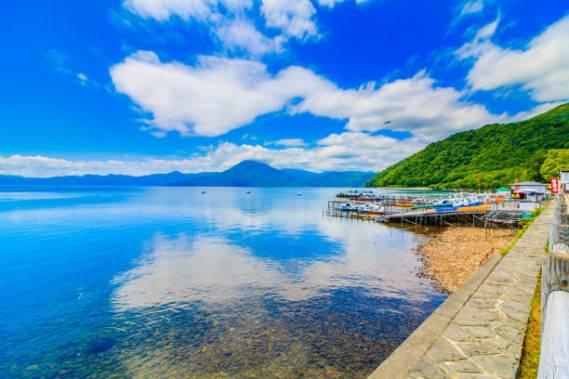 Shikotsu Lake in Hokkaido Japan