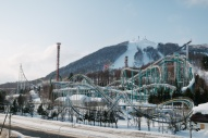Rusutsu Resort roller coasters in the snow